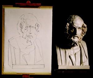 Establishing the outline drawing