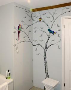 Recent bathroom mural